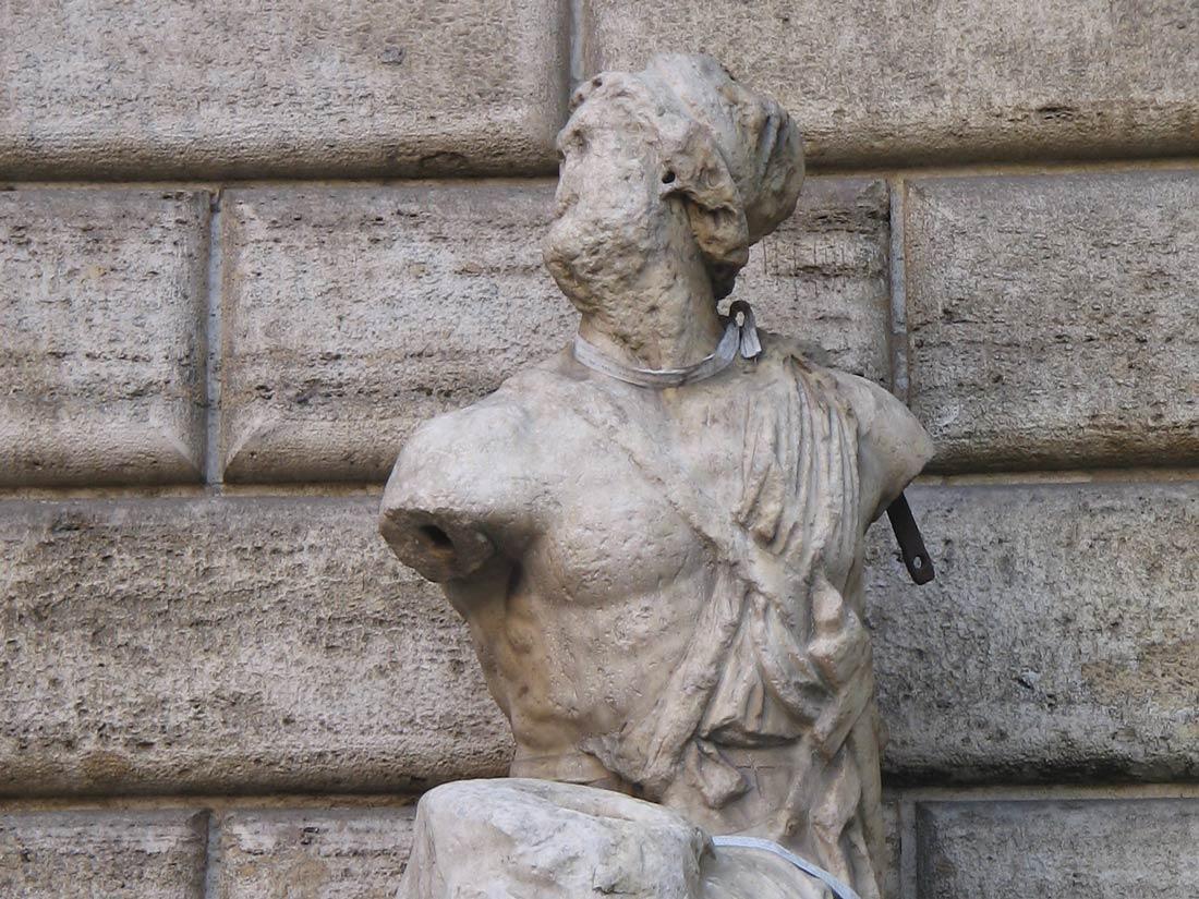 Le statue parlanti di Roma, quella di Pasquino